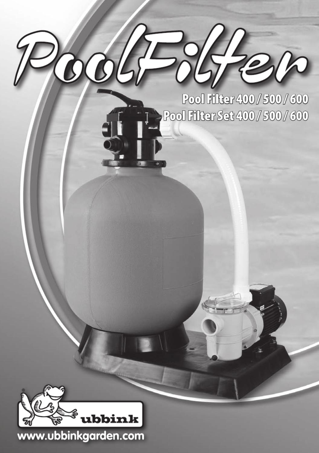 Pool Bodensauger Funktionsweise Pool Filter Set 400 500 600 By Issuu