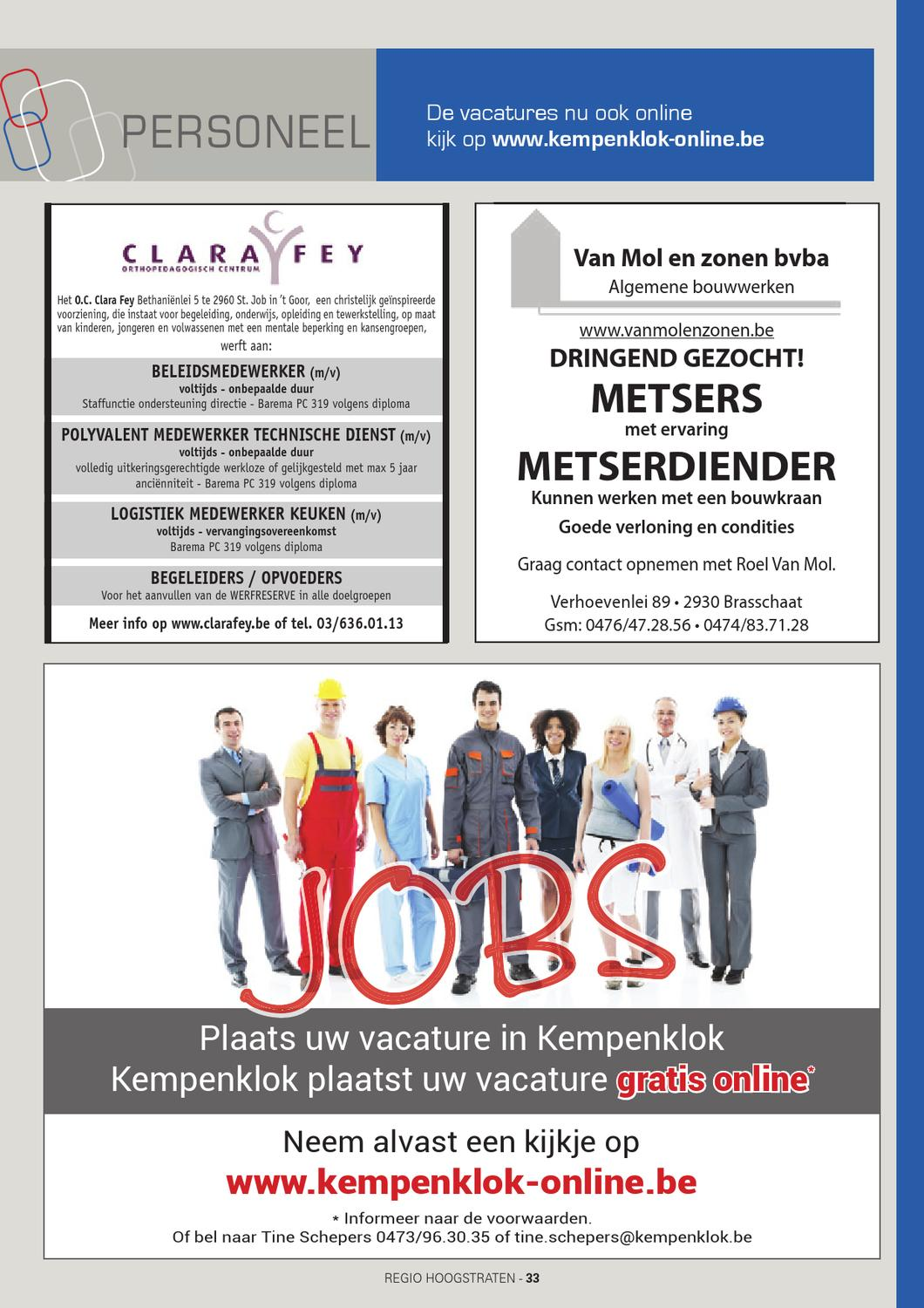 Vacatures Goor Kempenklok Hoogstraten Week 11 By Tine Schepers Issuu