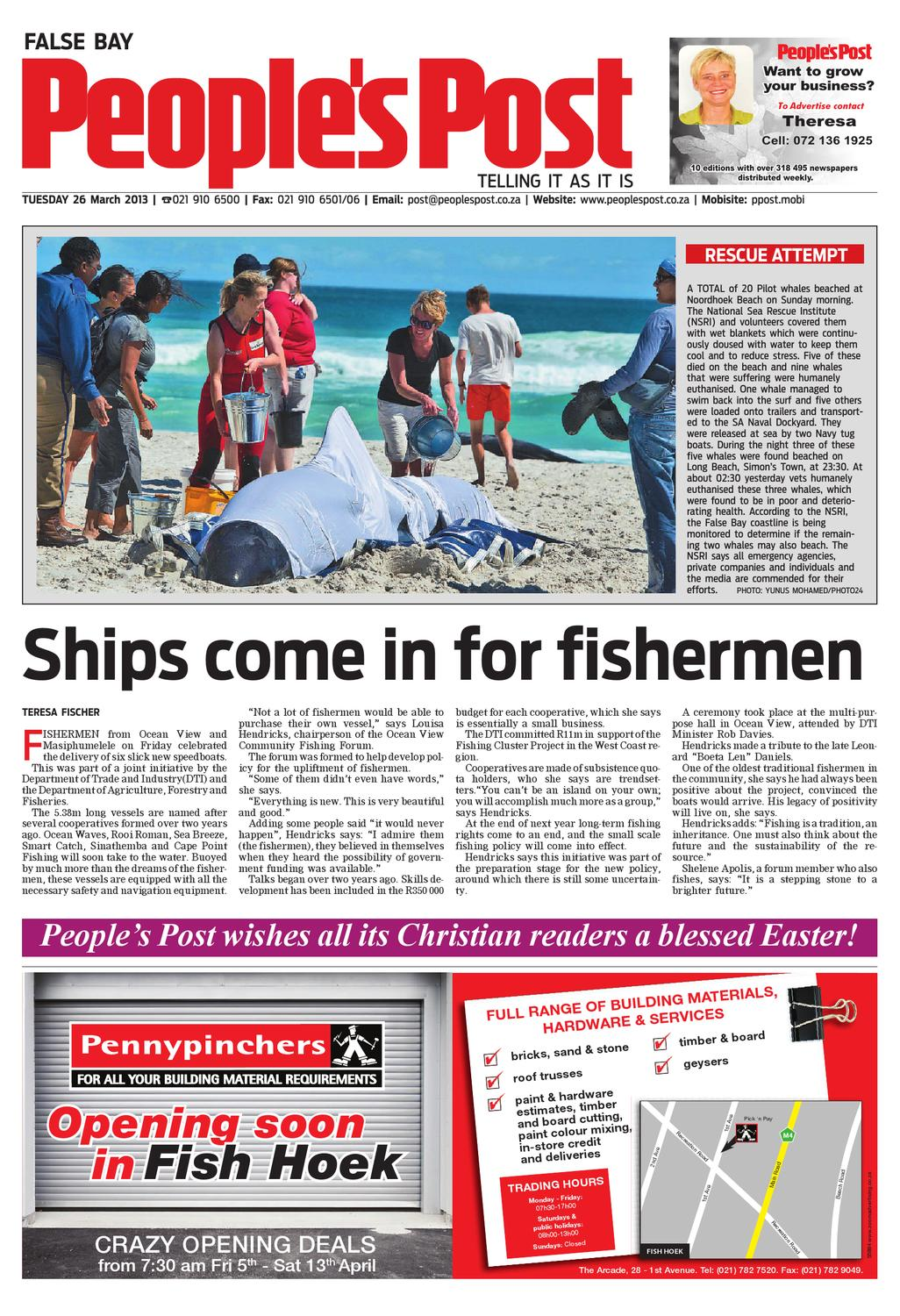Standard Bank Fish Hoek Phone Number Peoples Post False Bay 26 Mar 2013 By People S Post Issuu