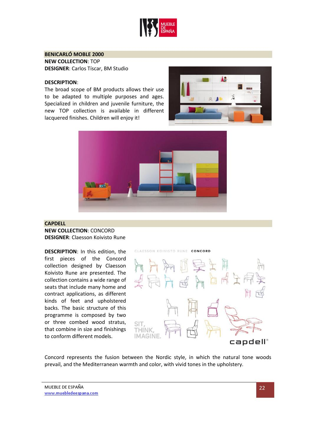 Muebles Bm 2000 I Saloni Milan 2013 Press Kit