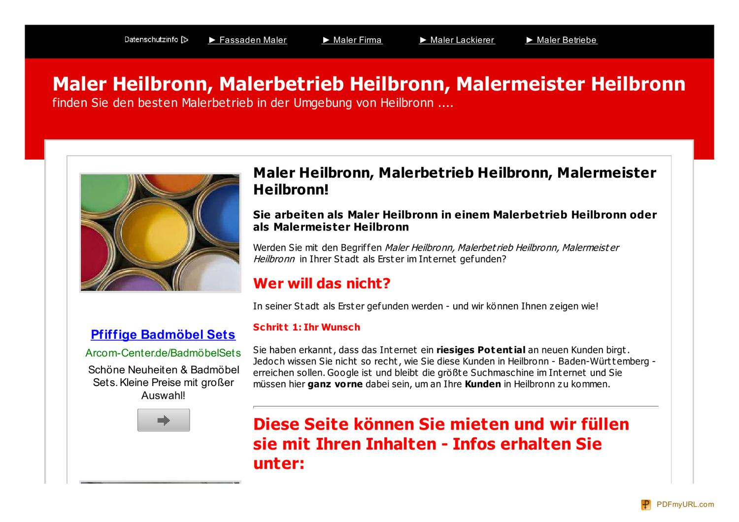 Betriebe Lackierer Maler Maler Heilbronn By Peter Brand Issuu