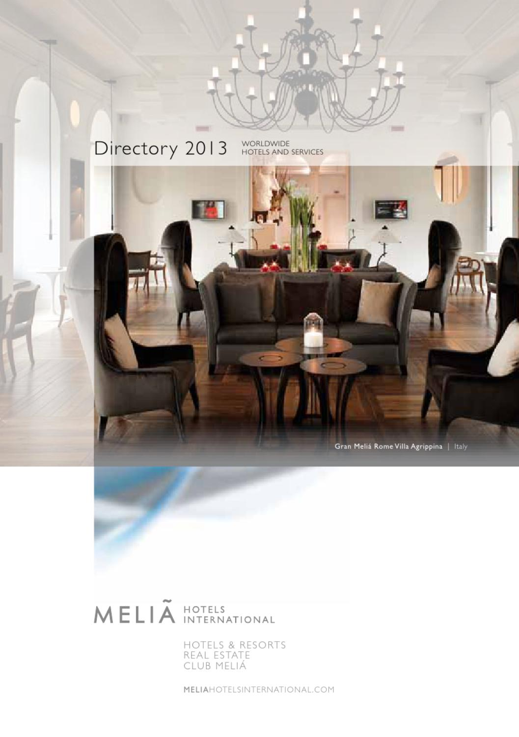 Sofa Cafe Cerqueira Cesar Melia Hotels International Directory 2013 By Melia Hotels