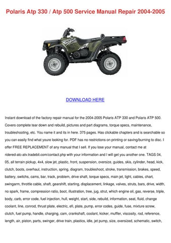 Polaris 330 Wiring Diagram Wiring Diagram