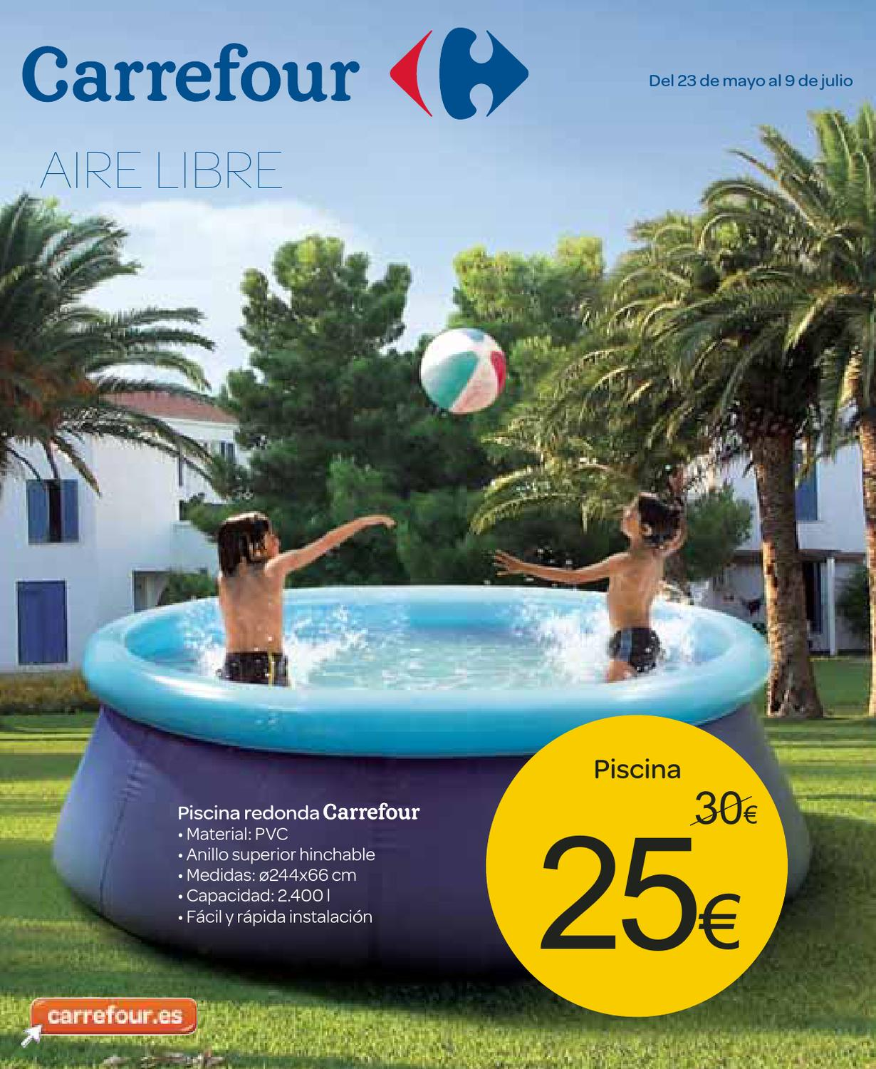 Piscinas Desmontables Alcampo Catalogo Piscina Hinchable Carrefour 2014
