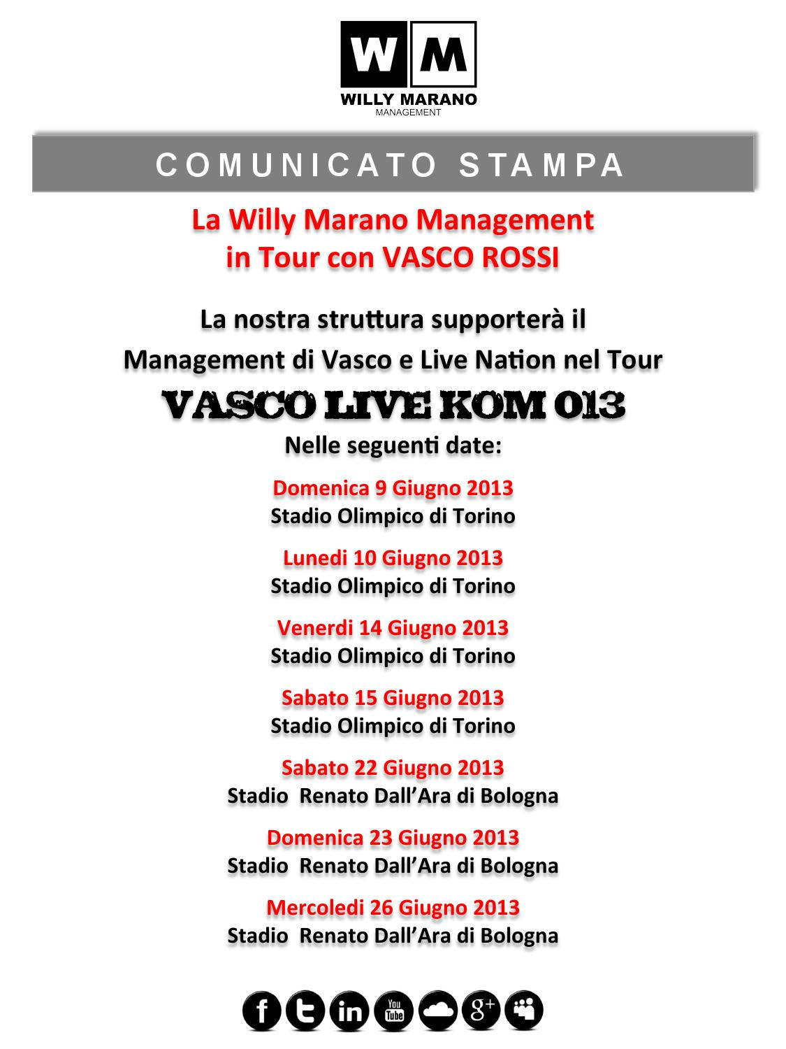 Vasco A Torino Willy Marano Management Al Live Kom 013