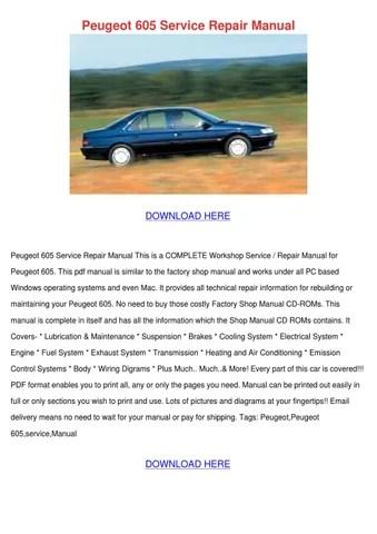 Peugeot 605 Service Repair Manual by SandraRobson - issuu