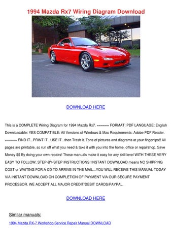 1994 Mazda Rx7 Wiring Diagram Download by TerranceSisco - issuu