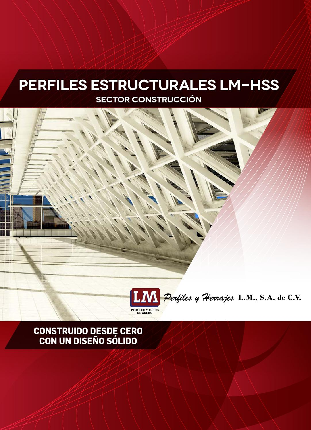Perfiles Tubulares Cuadrados Perfiles Estructurales Lm Hss By Galvasid Mexico Issuu