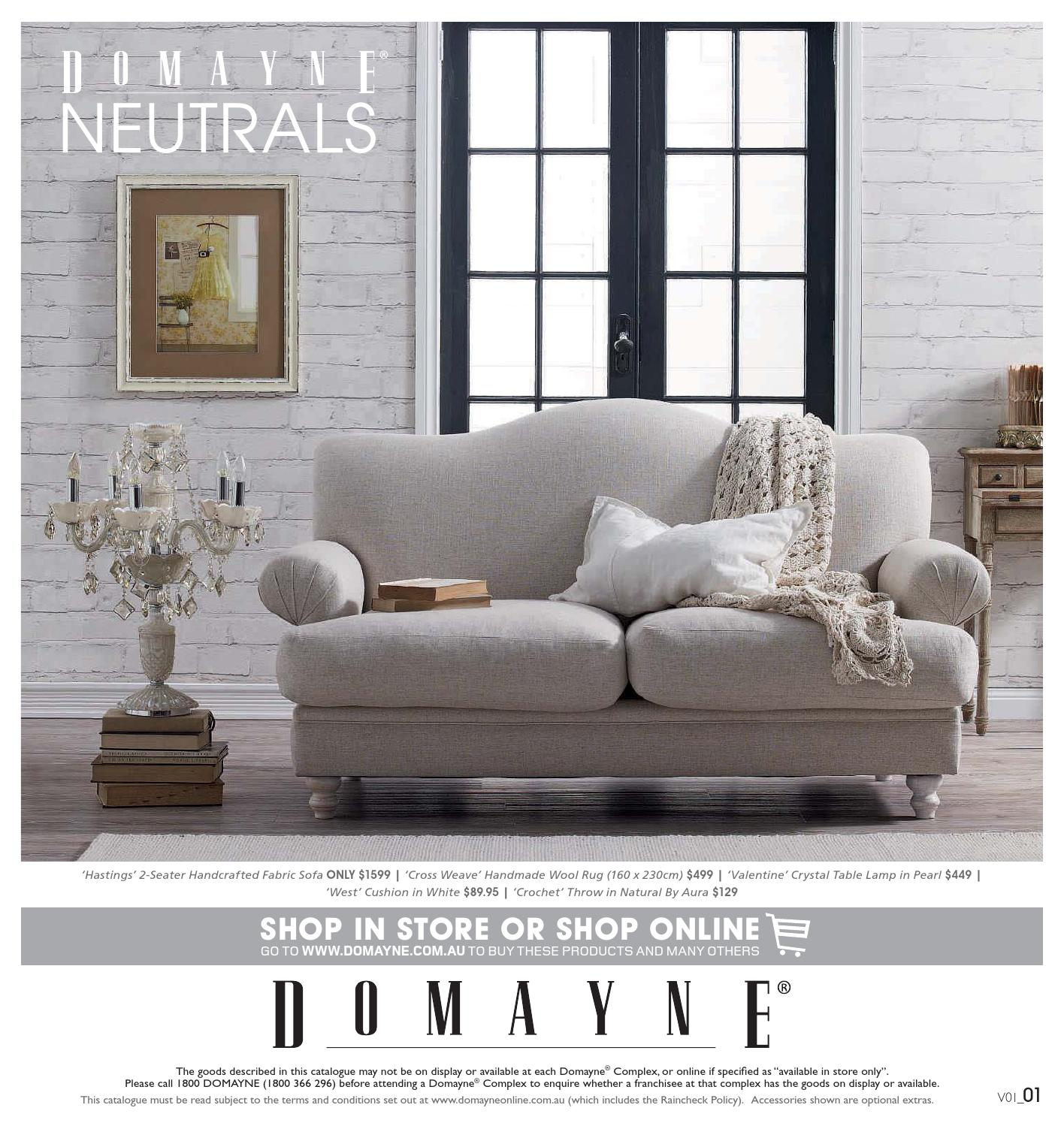 Domayne Furniture Fabric Lounges July Neutrals By Domayne Issuu
