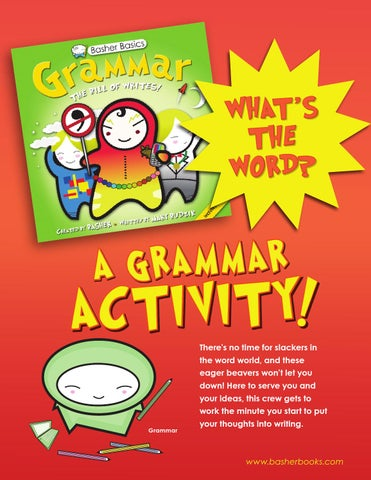 Basher Basics Grammar_ What\u0027s the Word Activity by Kingfisher