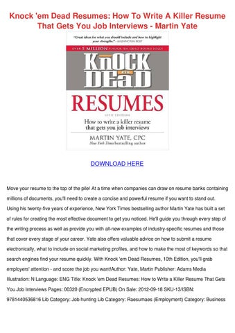 knock em dead cover letters attached please see my resume cheap - Knock Em Dead Resume Templates Download