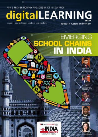 Dl August 2013 by digital LEARNING Magazine - Elets Technomedia Pvt - copy blueprint education noida