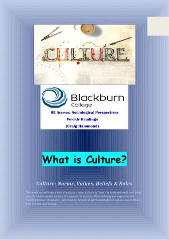 Week 2 Culture Defining  Exploring Culture by Craig Hammond - issuu