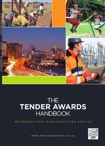 Tender Awards Handbook Metropolitan Municipalities 2011/12 by Yes