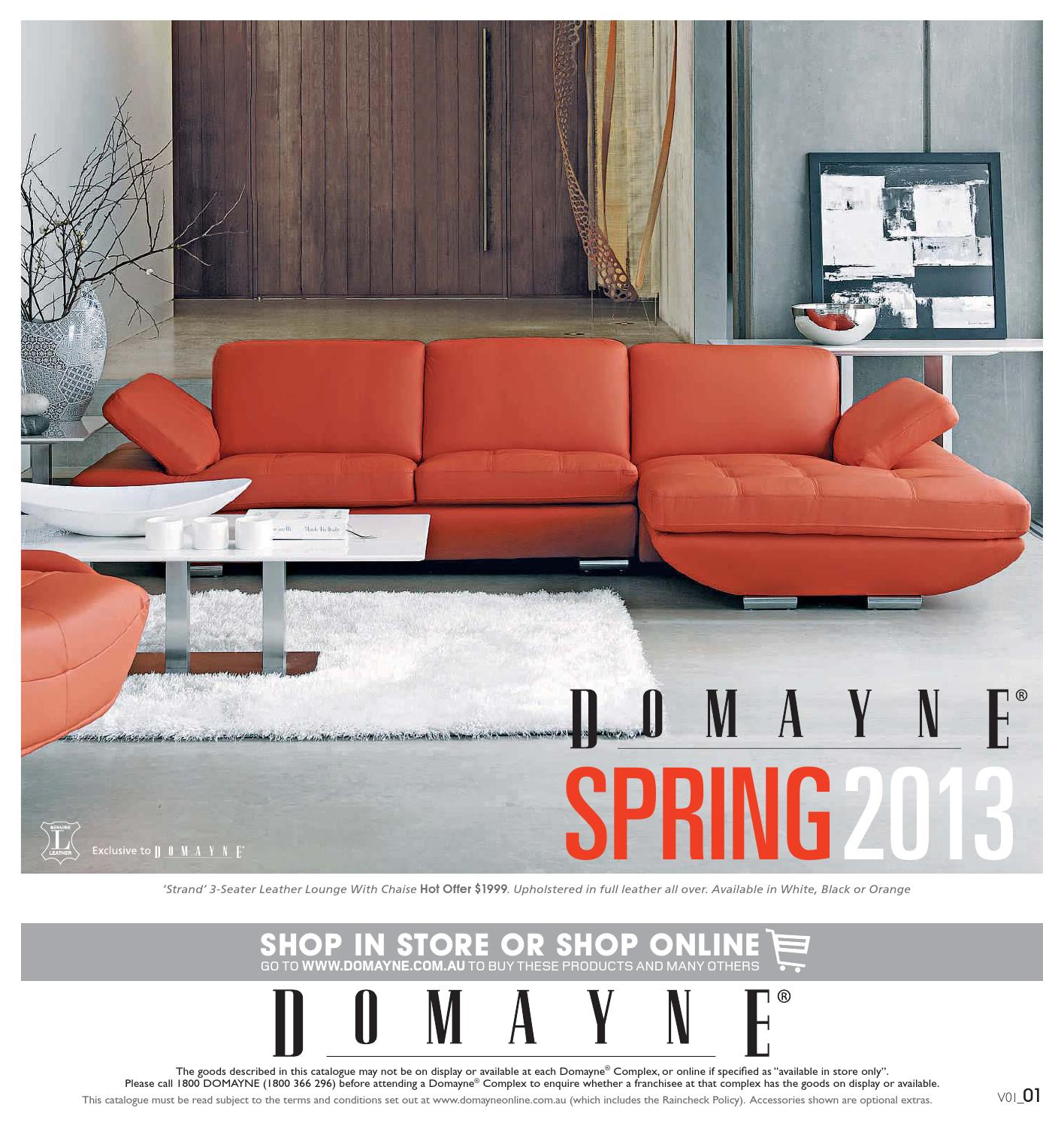 Domayne Furniture Fabric Lounges Spring 2013 By Domayne Issuu