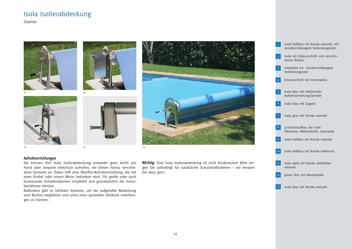 Pool Abdeckung Isolierabdeckung Bac Product Catalog 2013 By Silkwaters Media Issuu
