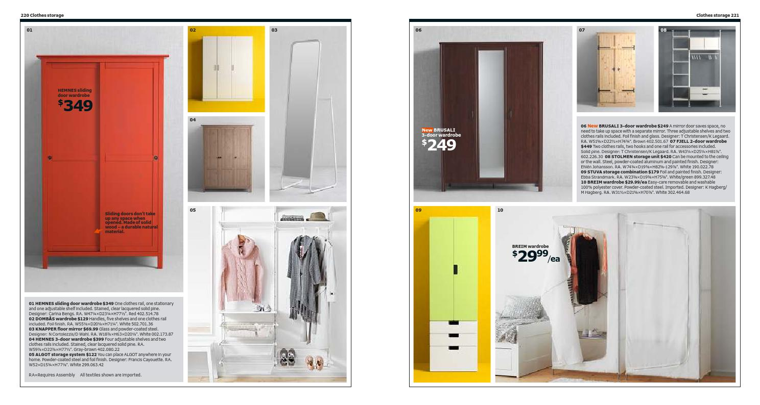 Brusali Wardrobe Ikea Catalog 2014 By Banidea Brochure Issuu