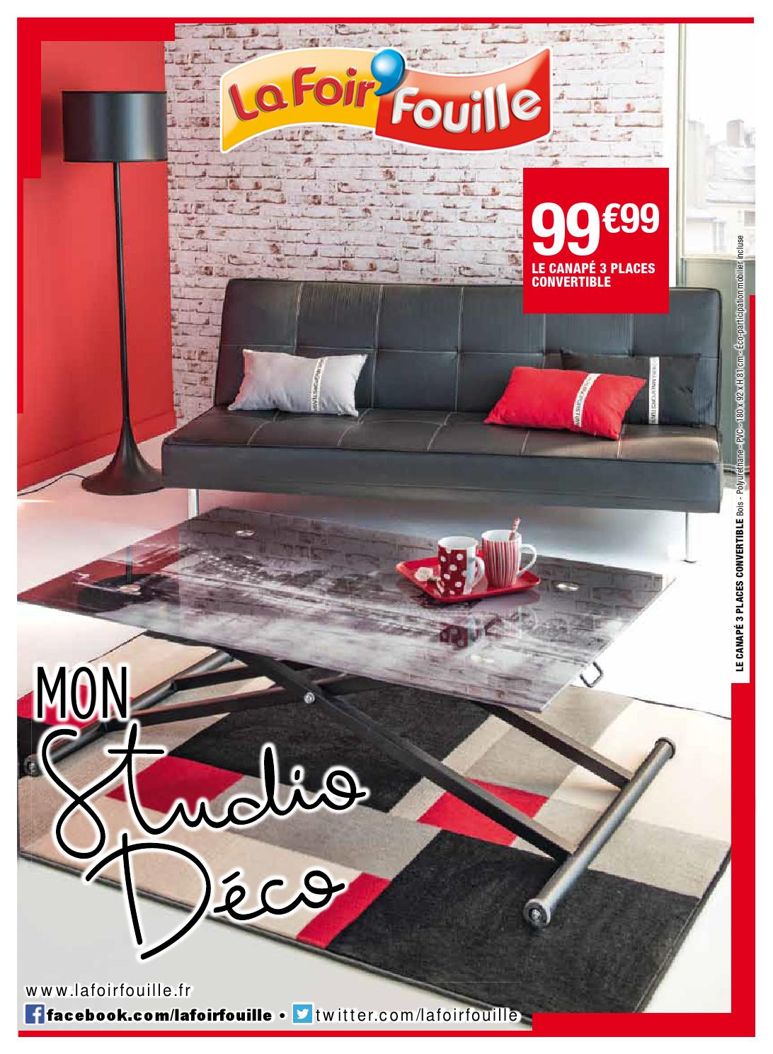 Canapé La Foir Fouille Catalogue La Foir Fouille Mon Studio Déco By Joe Monroe Issuu