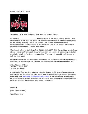 Summit sponsorship letter by Natural Venom - issuu