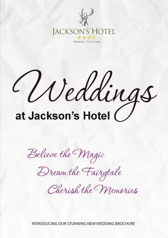 wedding-brochure-sample-jacksons-v3 by Jacksons Hotel - issuu