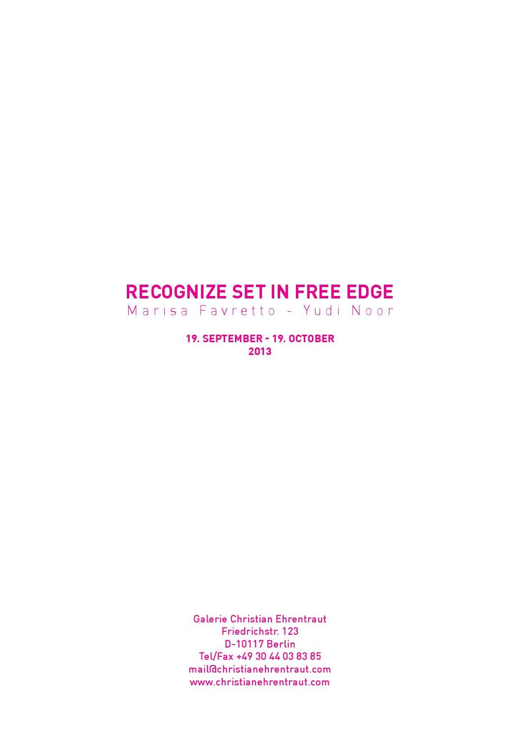 Recognize Set In Free Edge By Christian Ehrentraut Issuu
