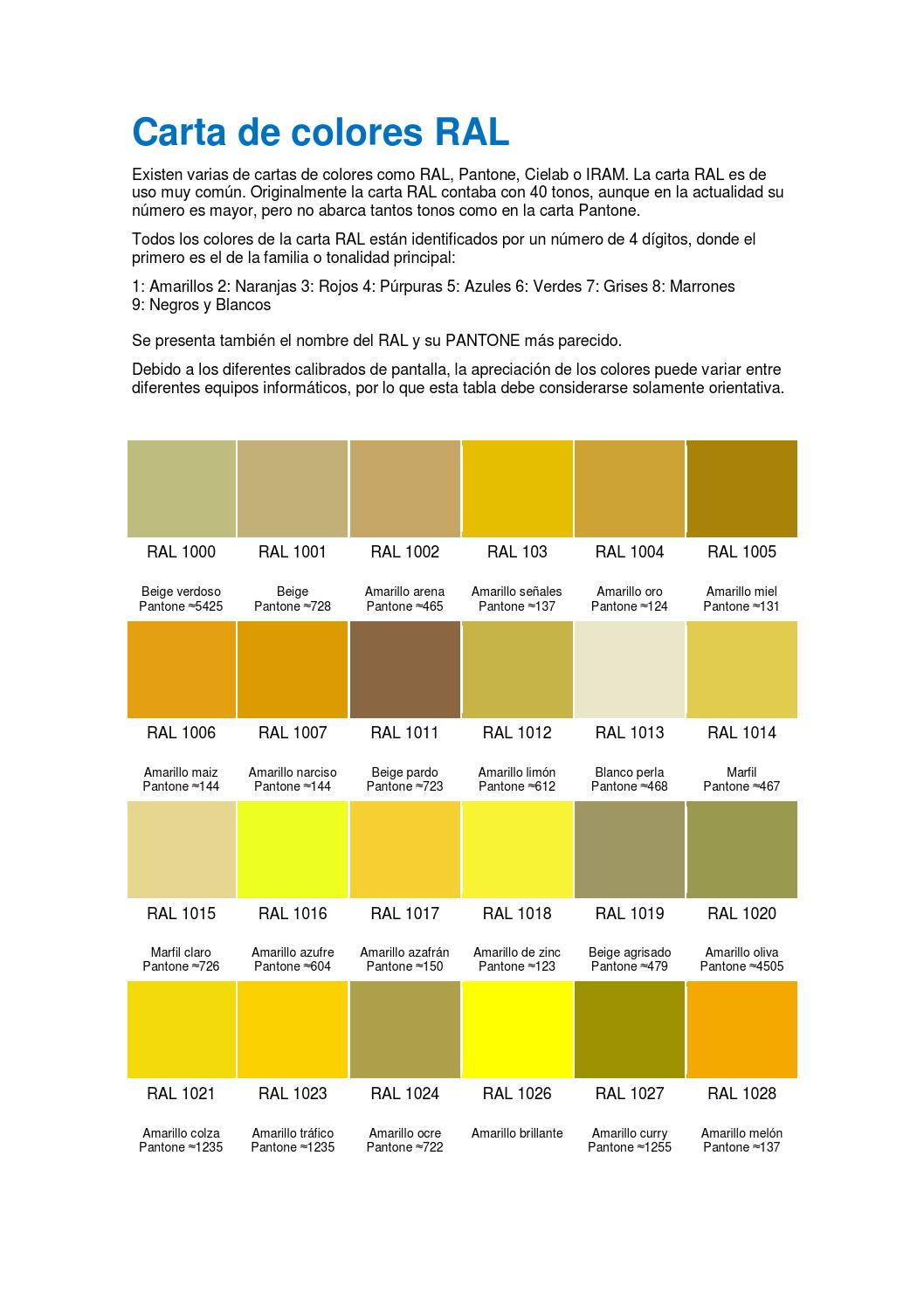 Carta Colores Ral By Ttmanager Issuu - Pantone Grises