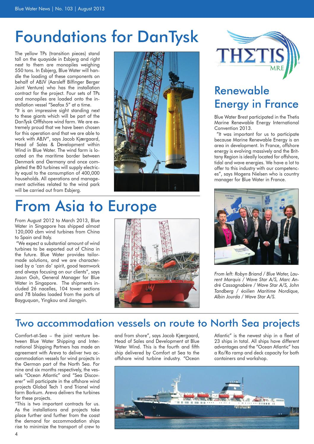 Location Nacelle Brest News August 2013 Uk By Blue Water Shipping Issuu