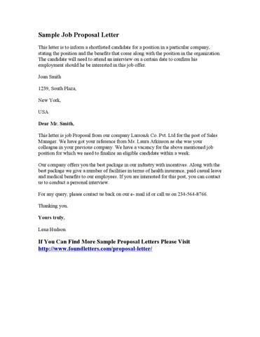 Sample Job Proposal Letter by Stephen Wash - issuu - job proposal letter