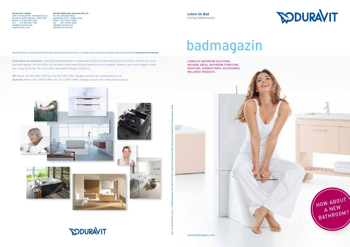 Duravit Waschtisch Vero Air 600 Mm Duravit News Magazine 2013 By Just Add Water Issuu