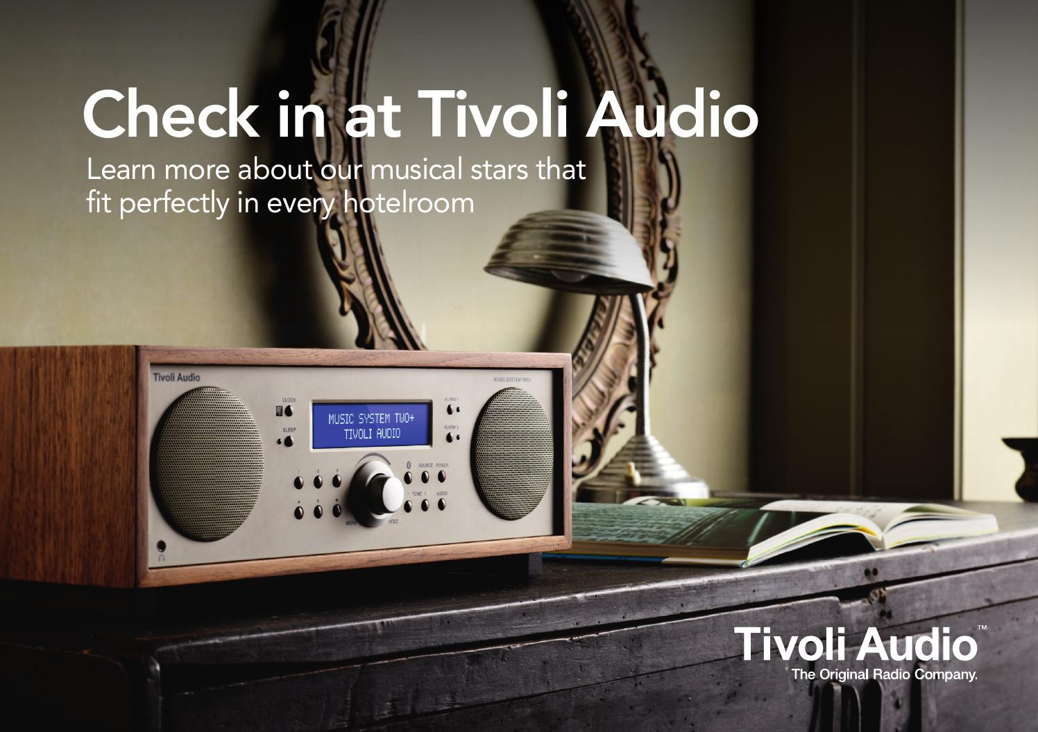 Tivoli Radio Designer Tivoli Audio Hotelbrochure By Noticed Issuu