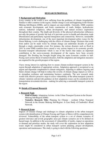 Sample Phd Research Proposal by Bayes Ahmed - issuu
