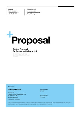 Suisse Design Proposal Template by egotype - issuu - design proposal
