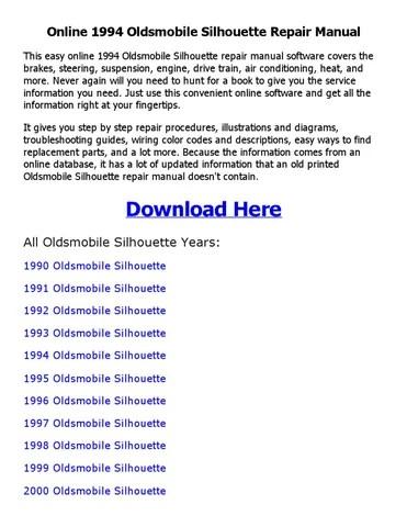 1994 oldsmobile silhouette repair manual online by sanod saha - issuu