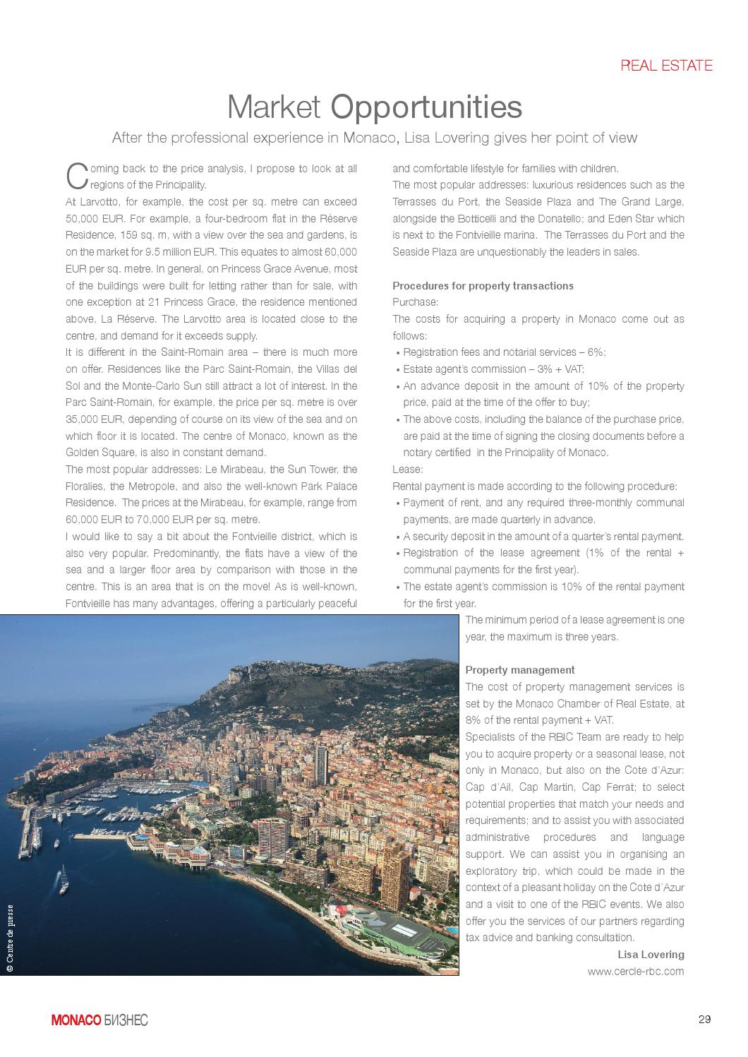 Terrasse Du Port Monaco Monaco Business N 7 By Monaco Business Magazine Issuu
