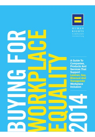 Buying for Workplace Equality 2014 by Human Rights Campaign - issuu