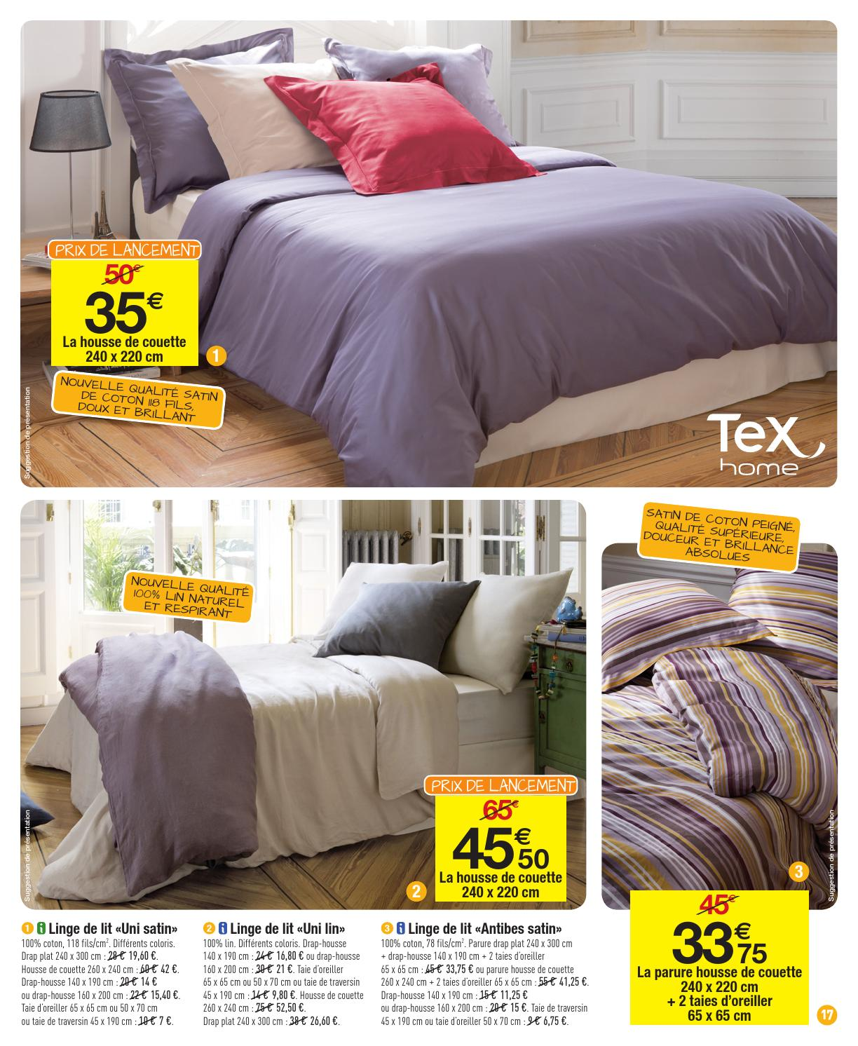 Taie De Traversin 140 Catalogue Carrefour 27 12 2013 11 01 2014
