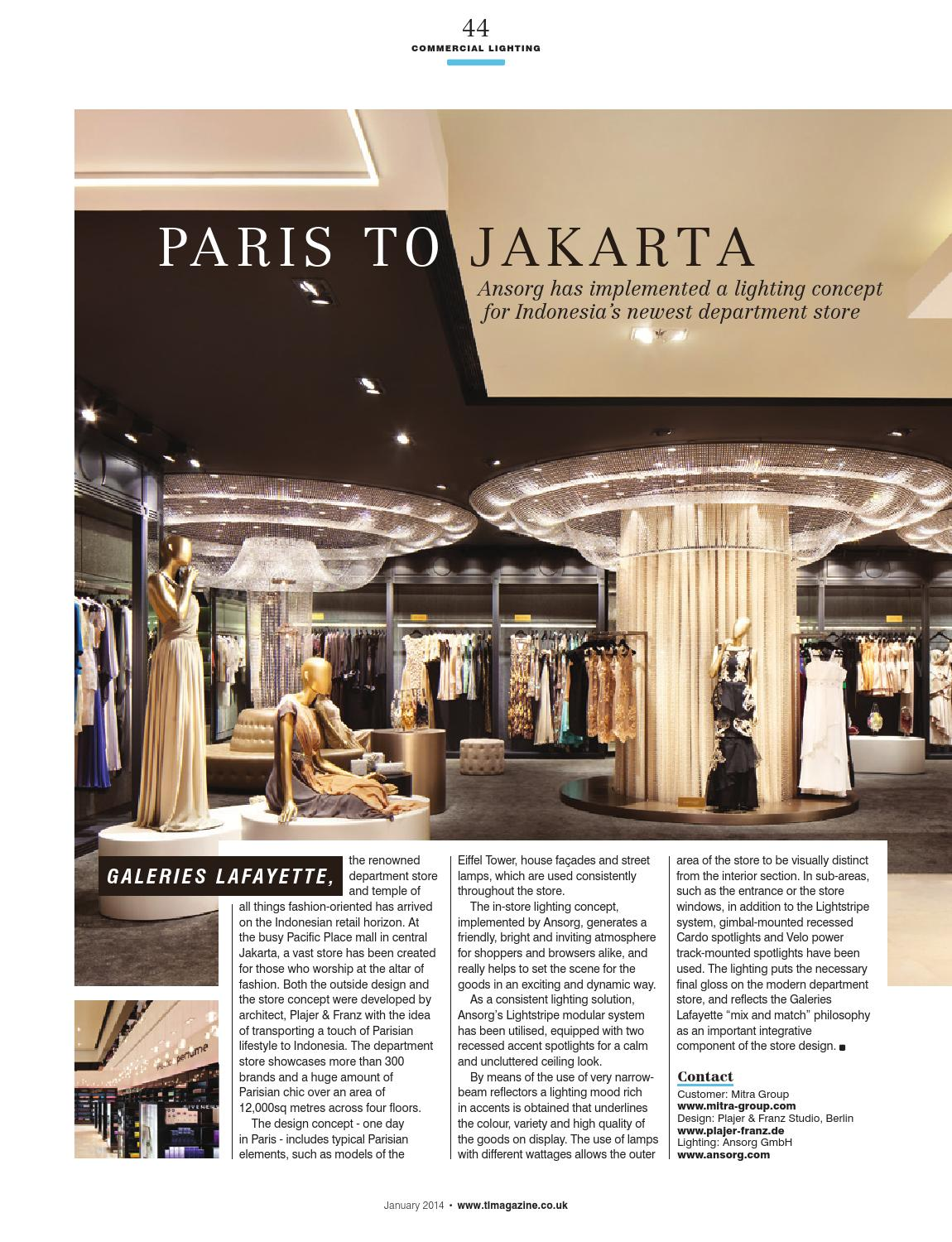 Kuche Store Jakarta Total Lighting January 2014