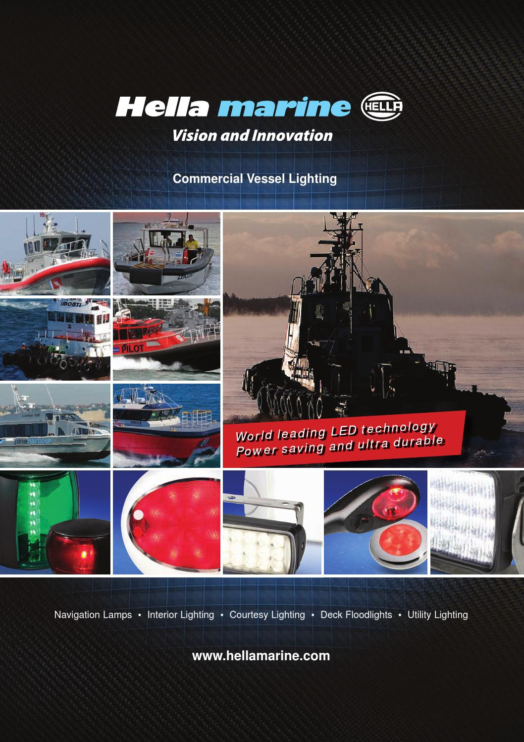 Marine Vessel Lighting Hella Marine Commercial Vessel Brochure - International By