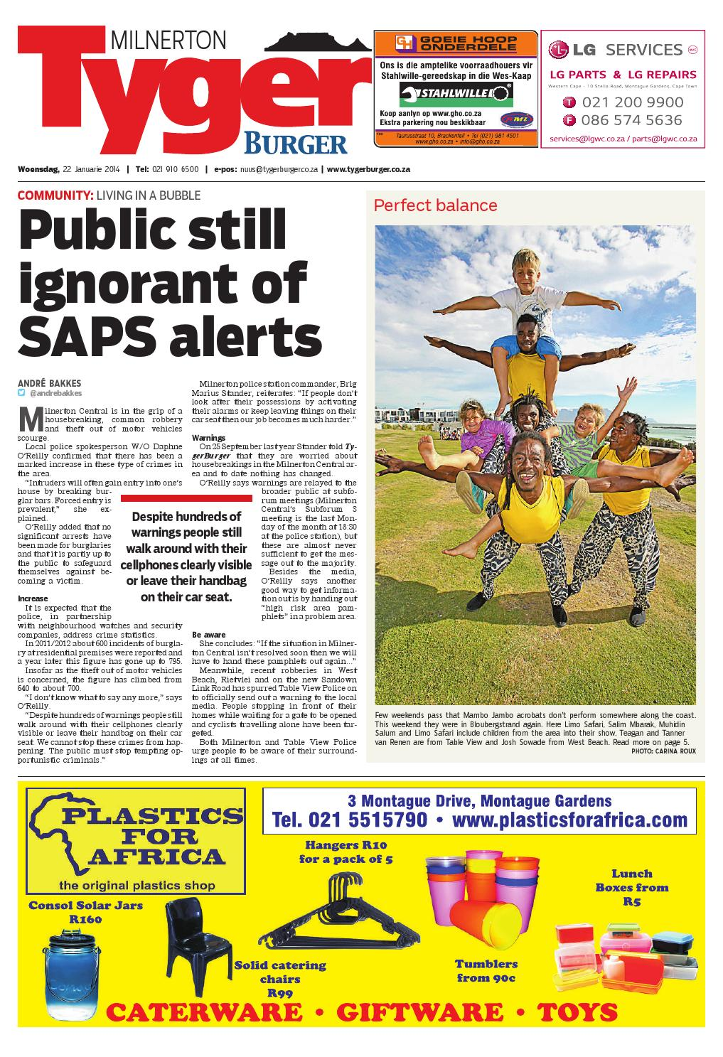 Tygerburger Milnerton 22 Jan 2014 By Tygerburger Newspaper Issuu - Studeer Aanlyn Nz