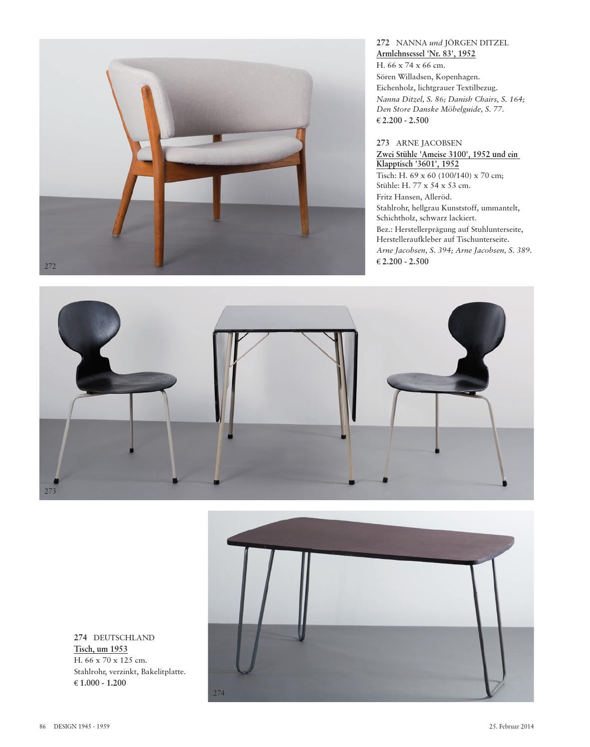 Arne Jacobsen Ameise Auction 113a Design Post War And Contemporary Art