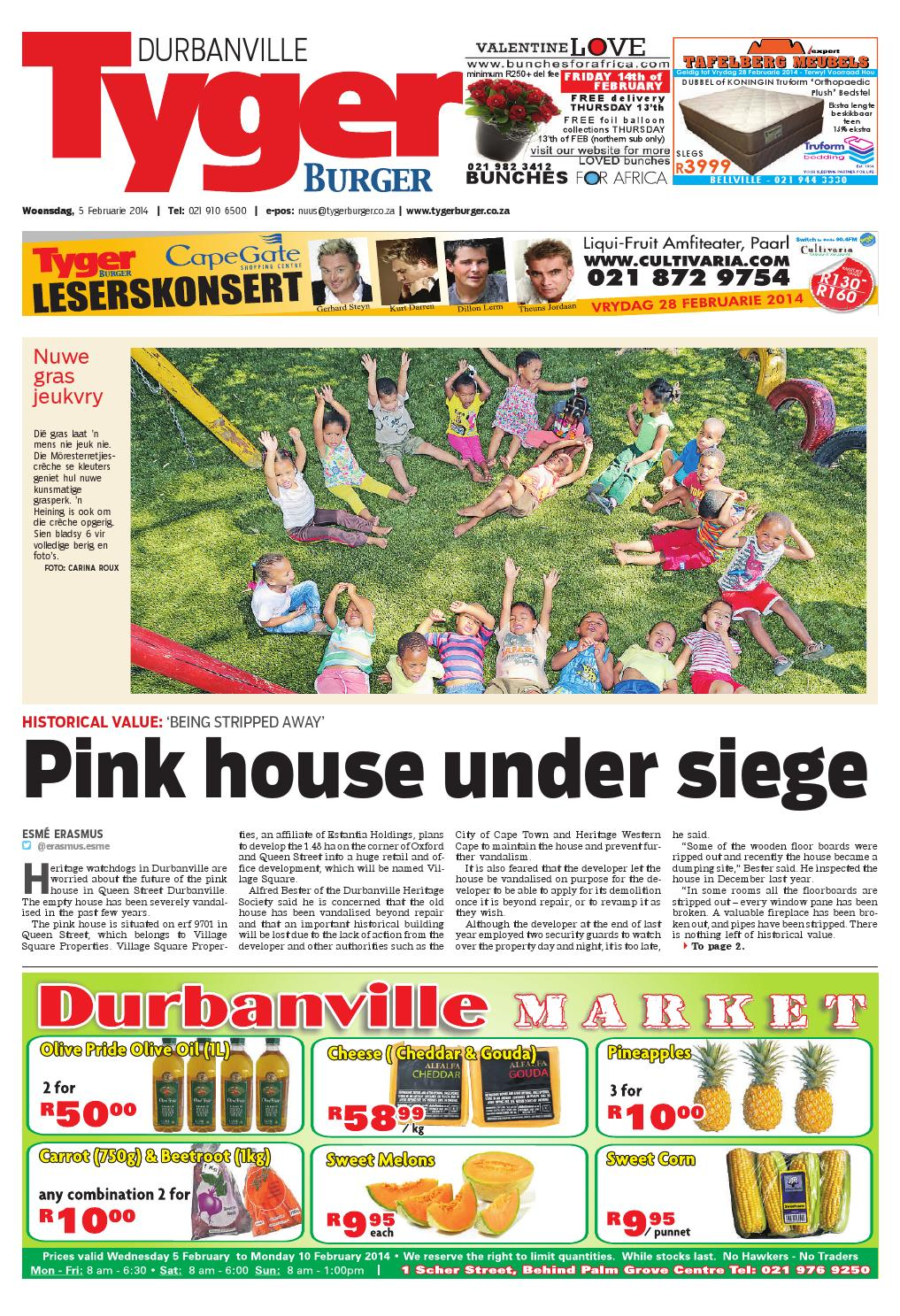 Tygerburger Durbanville 5 Feb 2014 By Tygerburger Newspaper Issuu - Studeer Aanlyn Nz