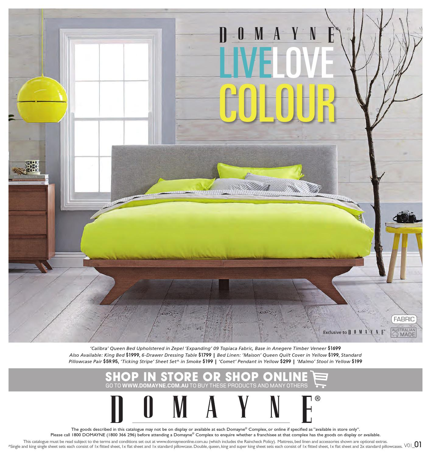 Domayne Beds Catalogue Live Love Colour By Domayne Issuu