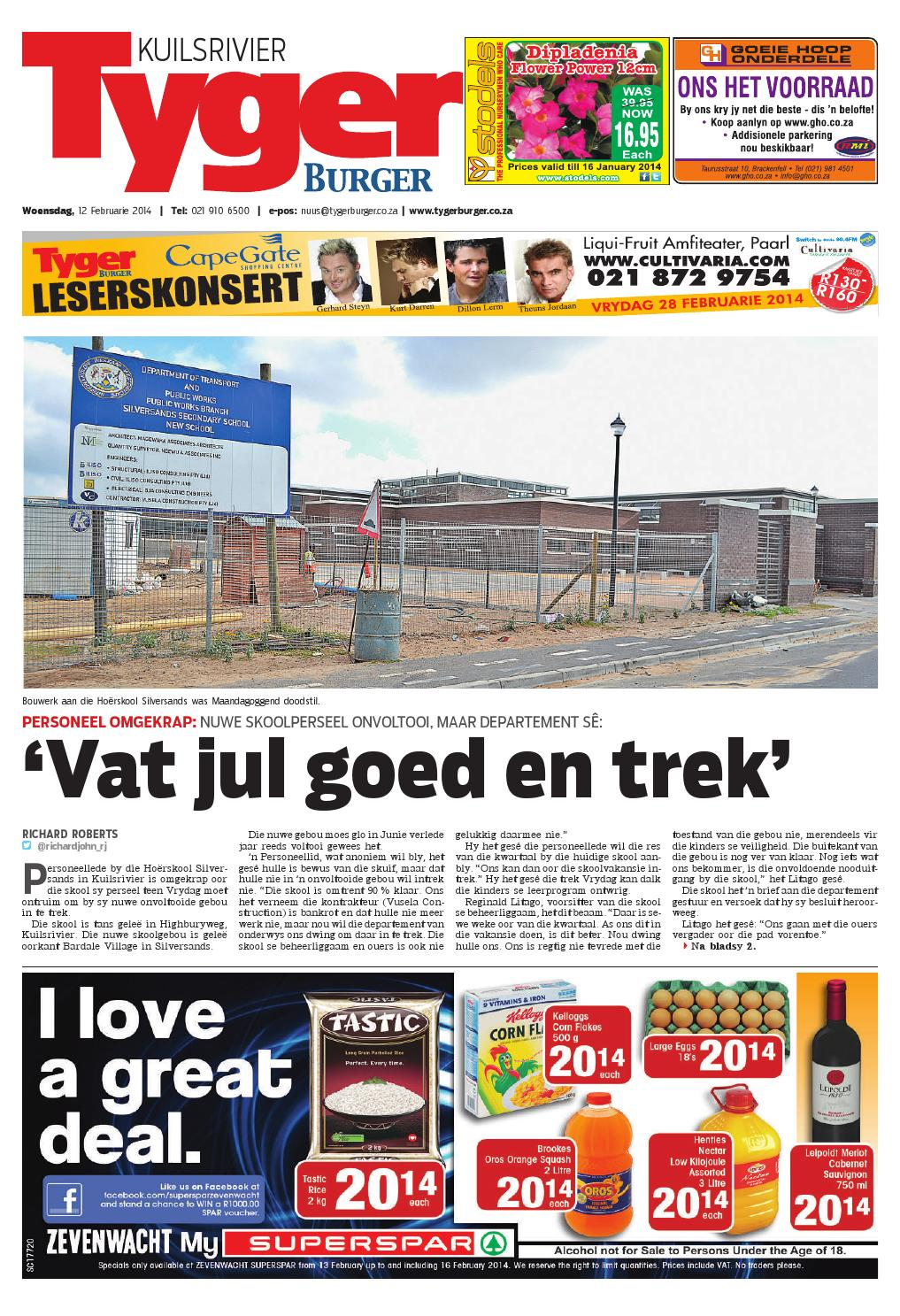 Tygerburger Kuilsrivier 12 Feb 2014 By Tygerburger Newspaper Issuu - Studeer Aanlyn Nz