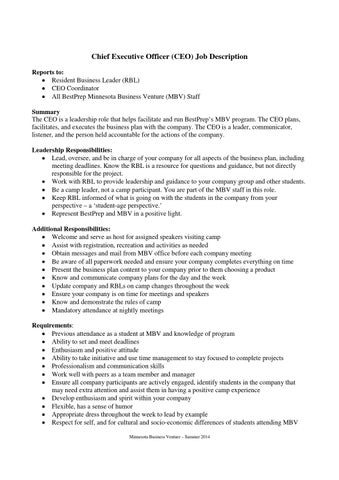 CEO  Communications Specialists Job Descriptions by Best Prep - issuu
