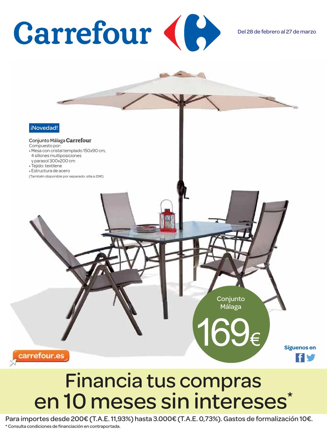 Muebles De Jardin Malaga Catalogo Carrefour Muebles Jardin By Carrefour Online Issuu
