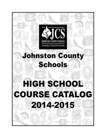 Johnston County High School Course Catalog 2014 - 2015 by Deborah