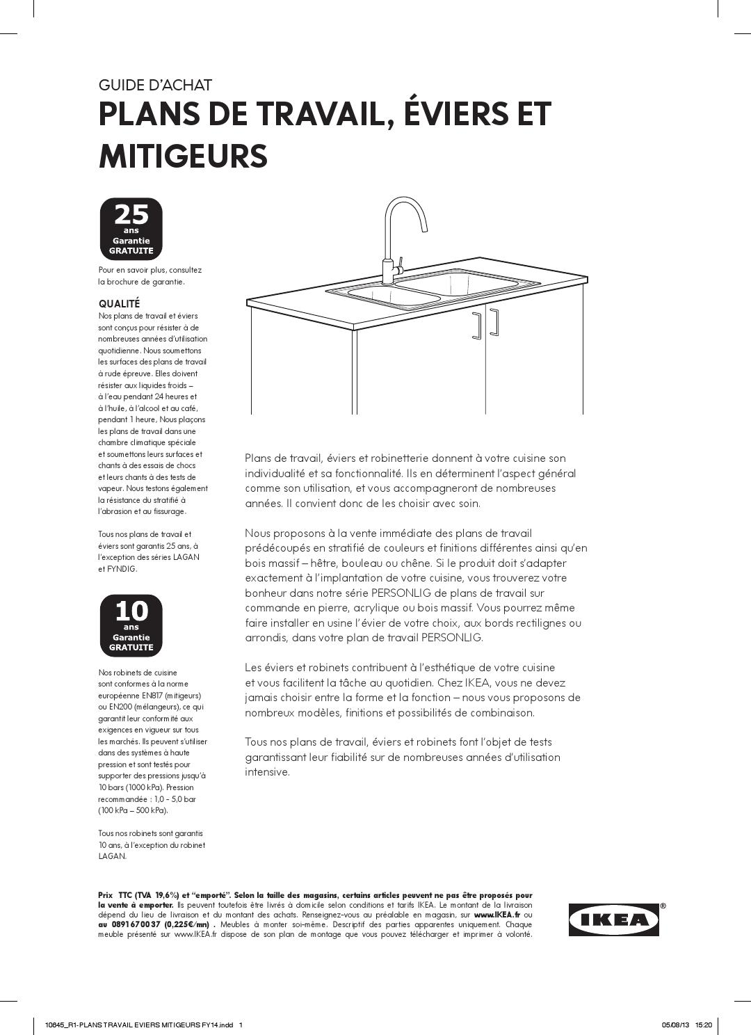 Achat Plan De Travail Plans Travail Evier Robinet By Ikea Catalog Issuu