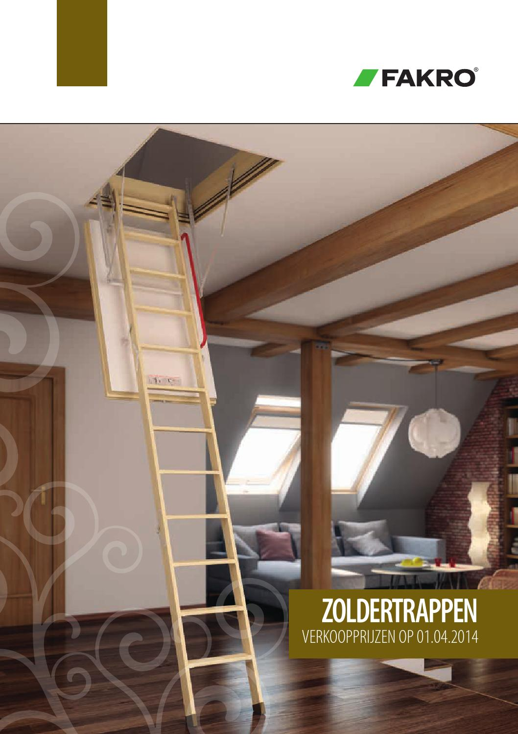 Zoldertrap Plaatsen Fakro Zoldertrappen By W247 Be Issuu