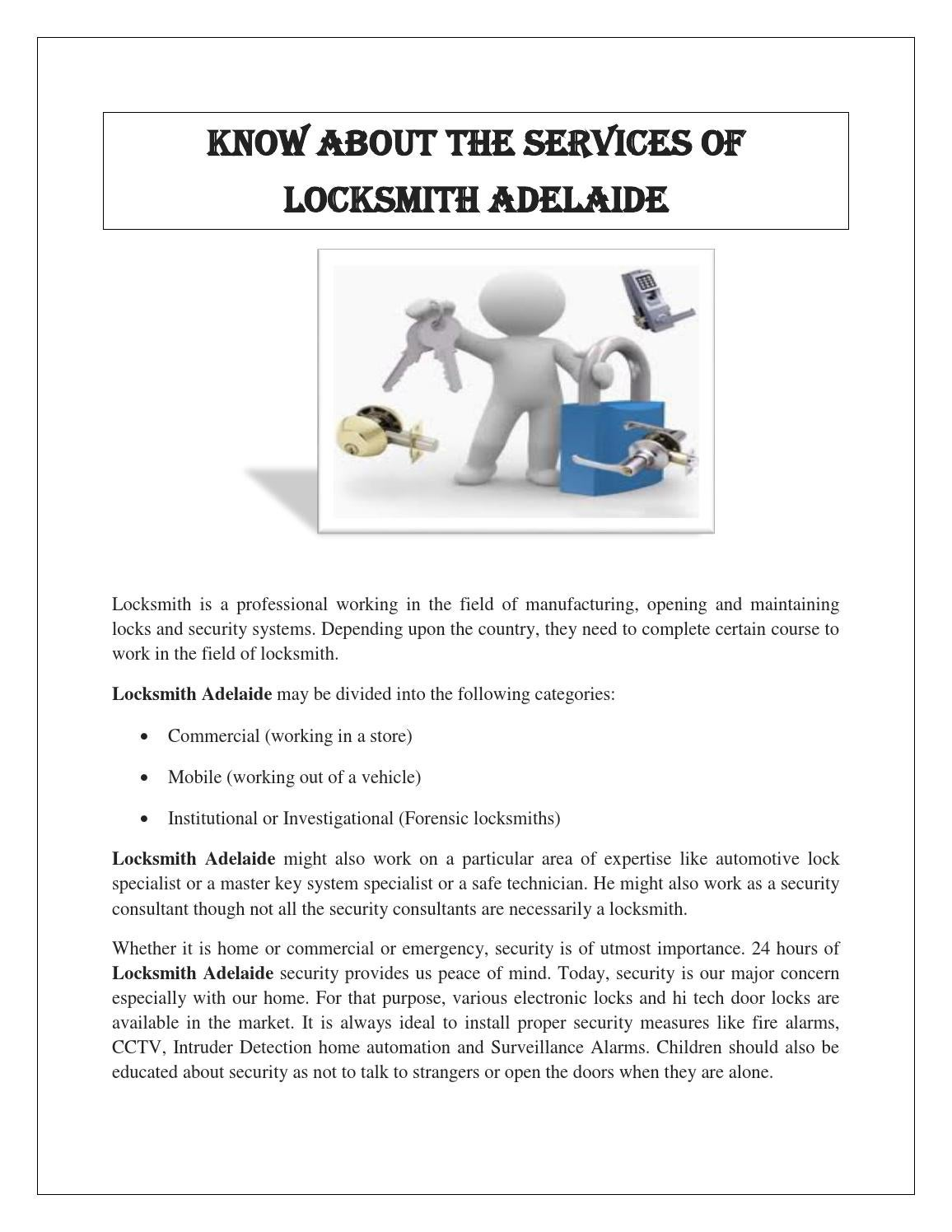 Electronics Store Adelaide Locksmith Adelaide By Pickmelocksmiths Issuu