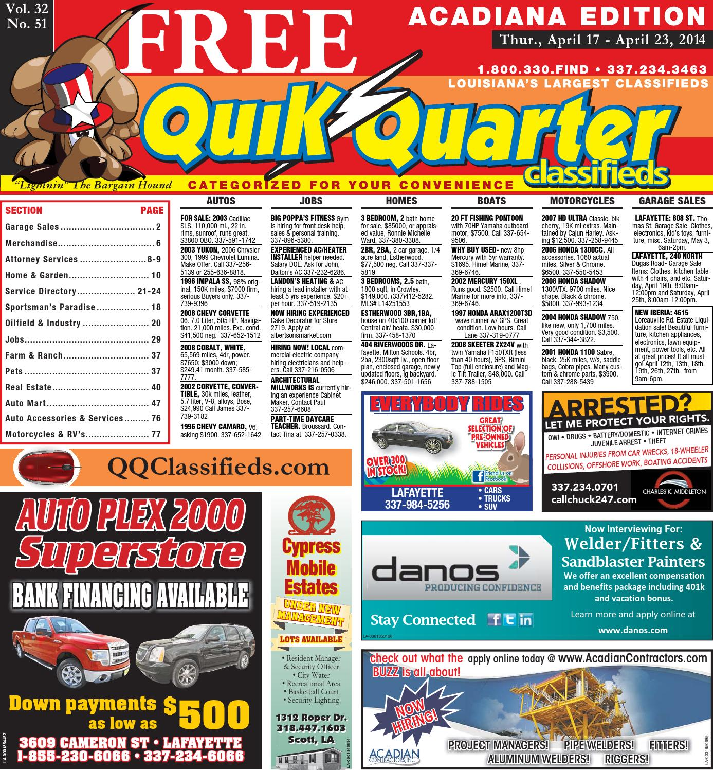 Qqacadiana 04 17 2014 By Part Of The Usa Today Network Issuu